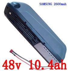 Free shipping and duty Hot selling Samsung 48v li ion battery for electric bike 48v 10.4ah down tube e-bike battery