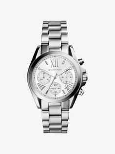 Find the Mini Bradshaw Silver-Tone Watch by Michael Kors at Michael Kors.
