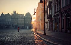 """Poznan by Erik Witsoe """"I shot this beautiful sunrise very early during our """"mini"""" spring that appeared just before the return of Winter a few weeks back. Looking forward to more of this soon! Great Places, Places To See, Beautiful Places, Amazing Places, Places Around The World, Around The Worlds, Cityscape Wallpaper, Countries Europe, Concrete Building"""