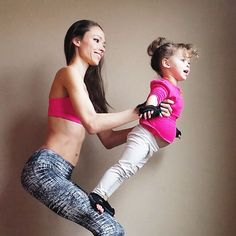 It doesn't take much to get them to join in on an acro yoga session. Kids just love to fly! Acro has a way of really bringing you into the present moment and create some lasting memories. Try these fun poses out with your little ones if you feel up to the challenge.