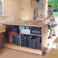 Outfeed table for delta unisaw woodshop pinterest for Surface garage double