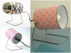 100 DIY Furniture and Upcycling Ideas - The Best Source of DIY .- 100 DIY Möbel und Upcycling Ideen- die beste Quelle der DIY Inspiration Diy furniture upcycling ideas diy inspiration from old power desk making yourself tinker with tin cans diy lamp - Recycled Lamp, Recycled Crafts, Recycled Materials, Recycler Diy, Diy Luz, Ideas Paso A Paso, Lampe Retro, Tin Can Crafts, Diy Crafts