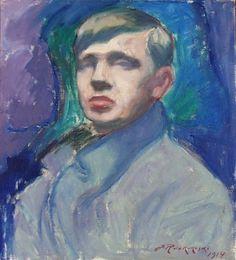 Self Portrait (Jalmari Ruokokoski - ) Blue Art, Finland, Scandinavian, Contemporary Art, Illustration Art, Painters, Master Art, Portraits, Figurative