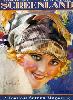 Marion Davies by Rolf Armstrong, cover illustration for Screenland Magazine, February 1924 Rolf Armstrong, Movie Magazine, Magazine Art, Magazine Covers, Glamour Movie, Marion Davies, Pin Up, Celebrity Magazines, Pastel Portraits