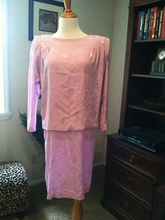 Shimmery Early 80s Pink Lavender Dropped Waist by pdee5069, $12.25