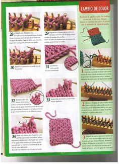 Loom knitting stitches page 04