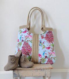 Colorful burlap bag