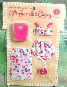 Francie and Casey Clothes - Casey, too! She had this one gold, dangly triangle earring, right? I also had her as a brunette.