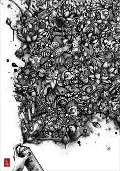 Nanami Cowdroy is an artist born in Australia but having aJapanese-European heritage. Her origins and the cultures she has grown with have influenced her very personal graphical style. Her black and white works are particularly detailed and full of different elements. Watery creatures are very often the main subject of her illustrations made with pen […]