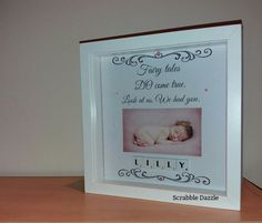 Baby Picture Frame Baby Frame Personalised Baby by ScrabbleDazzle