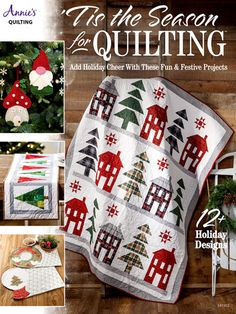 New Quilt Patterns - 'Tis the Season for Quilting Tree Quilt Pattern, Star Quilt Patterns, Christmas Quilt Patterns, Christmas Wall Hangings, Table Runner Pattern, Tis The Season, Fabric Markers, Quilted Wall Hangings, Red And Black Plaid