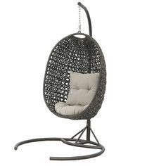 Bramblecrest Rio Rattan Cocoon Garden Swing Seat Pod Chair | Internet Gardener