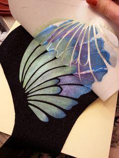 Freezer paper stencils: