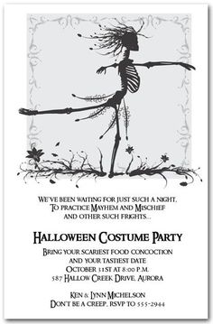 Halloween adult for party invitations