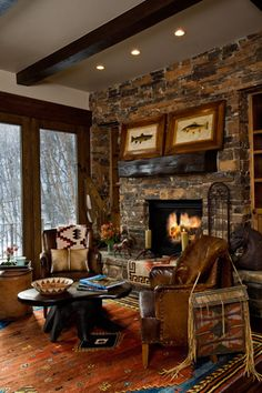 Log cabin bedroom ideas rustic by interiors home living mountain decor decorating cozy and lodge c . mountain lodge decor home Hunting Lodge Decor, Rustic Lodge Decor, Hunting Cabin, Hunt Lodge, Rustic Homes, Rustic Cabins, Western Homes, Log Cabins, Rustic Wood