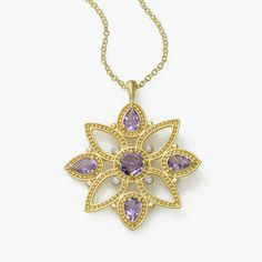 b763fa400 Amethyst Pendant, 14K Gold ... i love this Amethyst Pendant, Quality  Diamonds