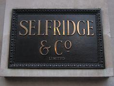 Selfridge & Co. #typography