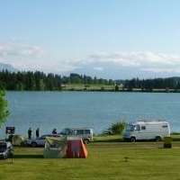 Camping ground at Lechsee, Allgäu, Bavaria - Modern Camping Bayern, Camping In Deutschland, Germany Travel, Campsite, Van Life, Caravan, Places To Go, Road Trip, Journey