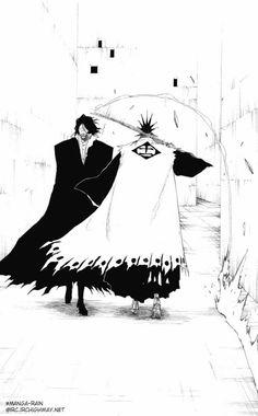"""Zangetsu & Kenpachi Zaraki, from """"Bleach. Manga Anime, Comic Manga, Anime Comics, Manga Art, Anime Art, Shinigami, Bleach Anime, Kenpachi Zaraki, Ichigo Bankai"""