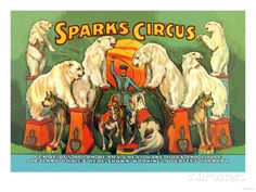 Sparks Circus Art Print