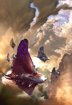 This visionary piece of concept art by Stephan Martiniere is what inspired the Sailback creature for this story.