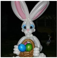 Balloon art Easter bunny sculpture