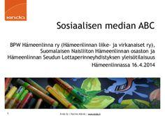 Sosiaalisen median ABC