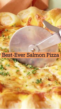 Salmon Recipes, Fish Recipes, Seafood Recipes, Appetizer Recipes, Appetizers, Grilling Recipes, Cooking Recipes, Healthy Recipes, Salmon Pizza