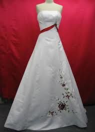 Wedding dress with a little color