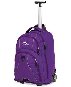 Roll in style with High Sierra Freewheel Rolling Backpack. Large enough to hold your laptop in padded sleeve, It's zippered front compartment has deluxe organizer, media pocket, multiple open pockets and key fob. Luggage Backpack, Carry On Luggage, Backpack Bags, Backpack For Teens, Backpack Online, Boys Backpacks, Wheeled Backpacks, Rolling Backpack, Best Luggage