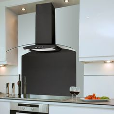 Extractor hood: ideas and pictures extractor hood kitchen curved cooker hood black GXYNMDF Kitchen Extractor, Extractor Hood, Extractor Fans, Marrakech, Rangemaster Cookers, Black Cooker, Kitchen Decor, Kitchen Design, Kitchen Ideas