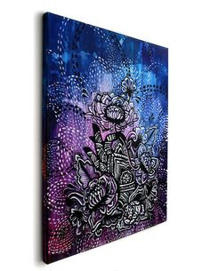 Original Lotus Henna Hand Screenprint and Painting por MadLoveShop, $300.00