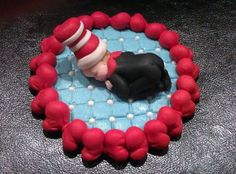 Fondant Edible Baby Cat in The Hat Cake Topper Baby Shower Baptism B Day GIA9400 | eBay