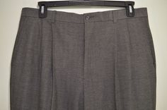 PRISTINE CLAIBORNE mens gray dress pants cuffed slacks pleated waist 38 x 30  #Claiborne #DressPleat