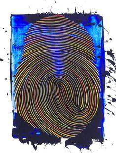 Fingerprint Fingerprint Art, Irish Art, Mix Style, New Media, Contemporary Paintings, Saatchi Art, Art Gallery, Outdoor Blanket, Pottery