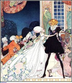 """Don't drink!"" cried out the little Princess, springing to her feet; ""I would rather marry a gardener!"" Kay Nielsen"