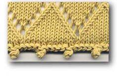 machine knit chain picot
