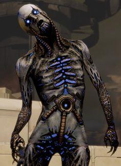 Reaper Husk-Mass Effect Sci Fi Fantasy, Dark Fantasy, Tv Tropes, Alien Art, Futuristic Art, Necromancer, Post Apocalypse, Shadowrun, Sci Fi Art