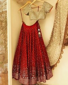 indian fashion Bridal -- Click Visit link above for more options Indian Bridal Outfits, Indian Bridal Lehenga, Indian Designer Outfits, Indian Dresses, Half Saree Designs, Lehenga Designs, Saree Blouse Designs, Half Saree Lehenga, Lehnga Dress
