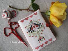 cross stitch Valentine accessories