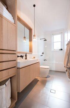 Muebles de madera para baños - Hints for Women Minimalist Bathroom Design, Bathroom Interior Design, Minimalist Bathroom Furniture, Scandinavian Bathroom Design Ideas, Bad Inspiration, Bathroom Inspiration, Bathroom Layout, Small Bathroom, Boho Bathroom