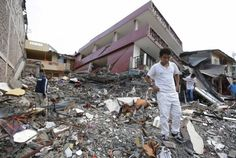 Ecuador earthquake: Rescuers race to find survivors as death.: Ecuador earthquake: Rescuers race to find survivors as death toll climbs… Ecuador, Tsunami Warning, Fishing Villages, Small Boats, Pacific Coast, Red Cross, Destruction, Weekend Is Over