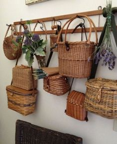 French Antique Hydrotherapy Curist Basket – Rustic Wicker Basket Collection – Woven Wicker Shabby Chic Decor – French Antique Country Home Französischer antiker Hydrotherapie-Kuristenkorb Rustikaler Korb Baskets On Wall, Wicker Baskets, Wall Basket, Hanging Baskets, Rattan, Moderne Lofts, Country Decor, Farmhouse Decor, Basket Bag
