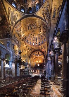 Interior of St Mark's Basilica,Venice - Italy.