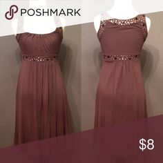 Brown empire waist dress with golden studs Just a cute dress thats appropriate in any setting. Probably the comfiest dress I own. Worn multiple times but still in good condition! Dresses