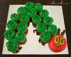 My version of a Very Hungry Caterpillar Birthday Cake