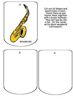 FREE DOWNLOAD - Orchestra Lapbook - Woodwinds - Great for sub plans!