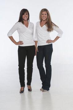 "Beija-Flor Jeans ""Gillian"" Pull-On-Denim Black Skinny Jean and ""Sonia"" Pull-On-Denim Bootcut Jean"