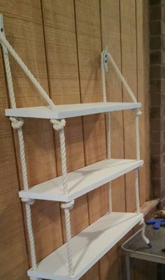 Details about 3 Tier Nautical Rope Shelf / Rope Shelf / Nautical Shelf / Nautical Nursery / Sw - Decoration For Home