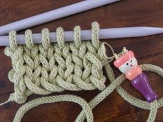 Knitted French knitting - great blogpost about transforming knitting.